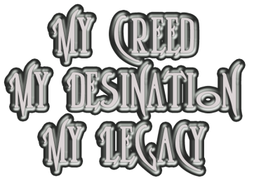 My Creed My Destination My Legacy 6