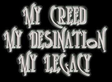 My Creed My Destination My Legacy 6