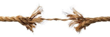 Frayed Rope about to Break